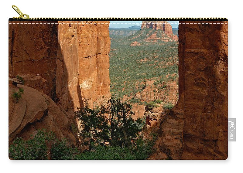 Photo Carry-all Pouch featuring the photograph Cathedral Rock 05-012 by Scott McAllister