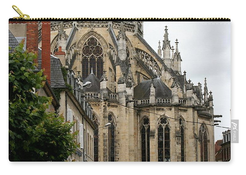 Cathedral Carry-all Pouch featuring the photograph Cathedrale Saint - Cyr - Et - Sainte - Julitte De Nevers by Christiane Schulze Art And Photography