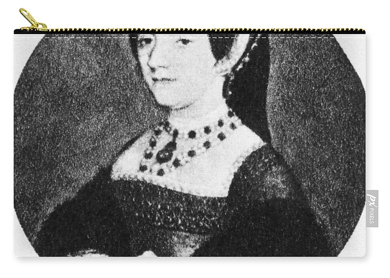 16th Century Carry-all Pouch featuring the painting Catherine Howard (1520-1542) by Granger
