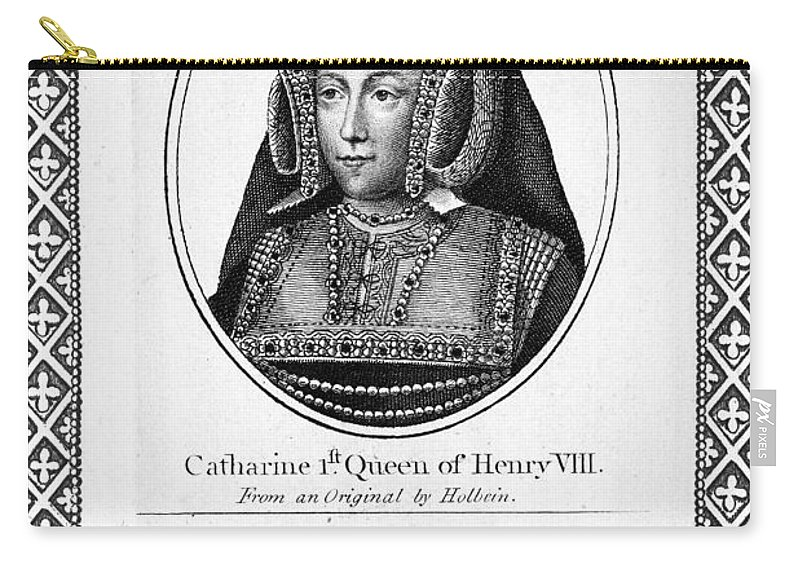 16th Century Carry-all Pouch featuring the painting Catherine Of Aragon (1485-1536) by Granger