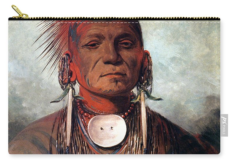 19th Century Carry-all Pouch featuring the photograph Catlin: Medicine Man by Granger