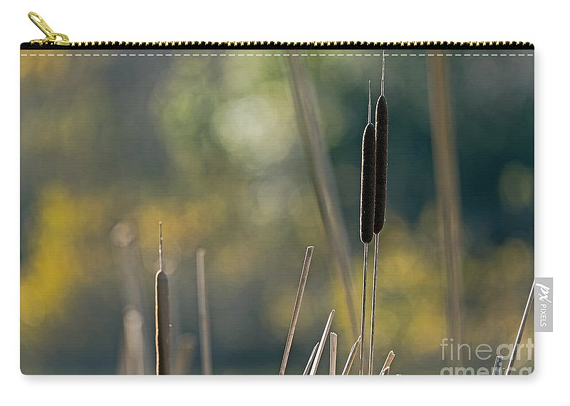 Bokeh Carry-all Pouch featuring the photograph Cattails by Kate Brown