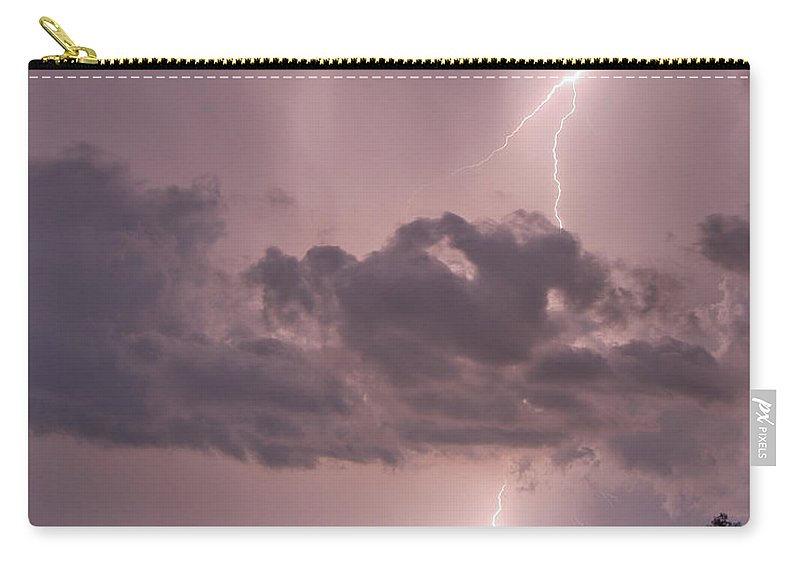Florida Carry-all Pouch featuring the photograph Caustic Causeway by Stephen Whalen