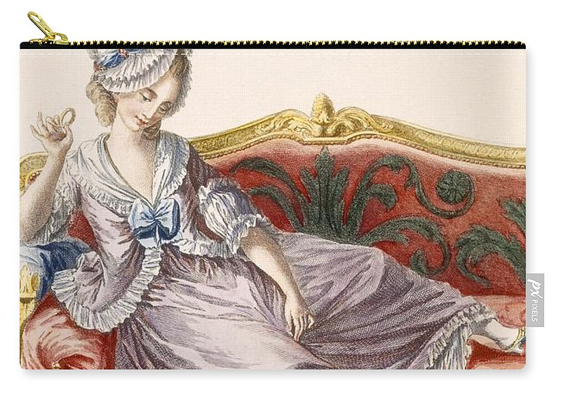 Carry-all Pouch featuring the drawing Cavaco A La Polonaise, Engraved by Pierre Thomas Le Clerc