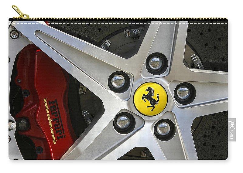 Ferrari Carry-all Pouch featuring the photograph Cavallino Rampante by Jose Bispo