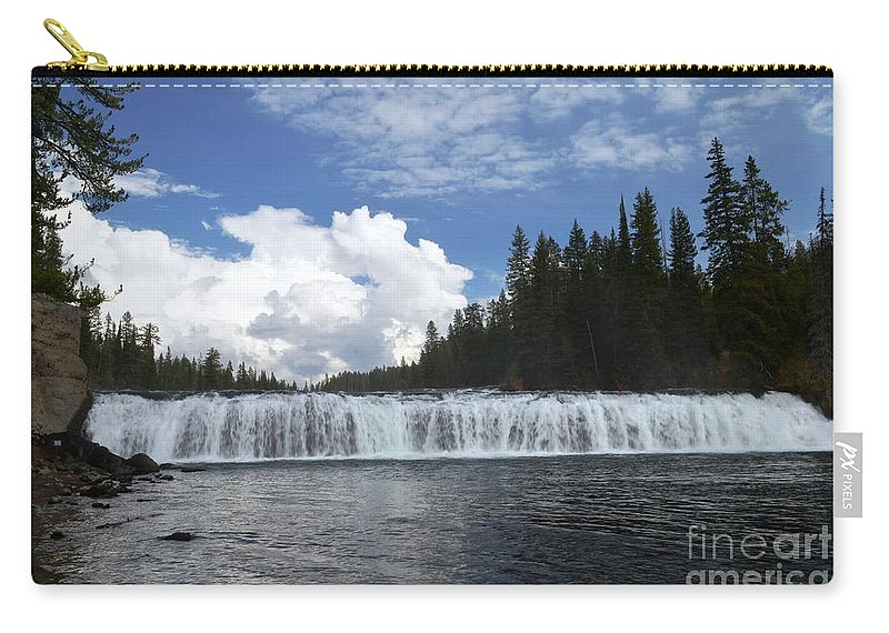 Cave Falls Carry-all Pouch featuring the photograph Cave Falls by Deanna Cagle
