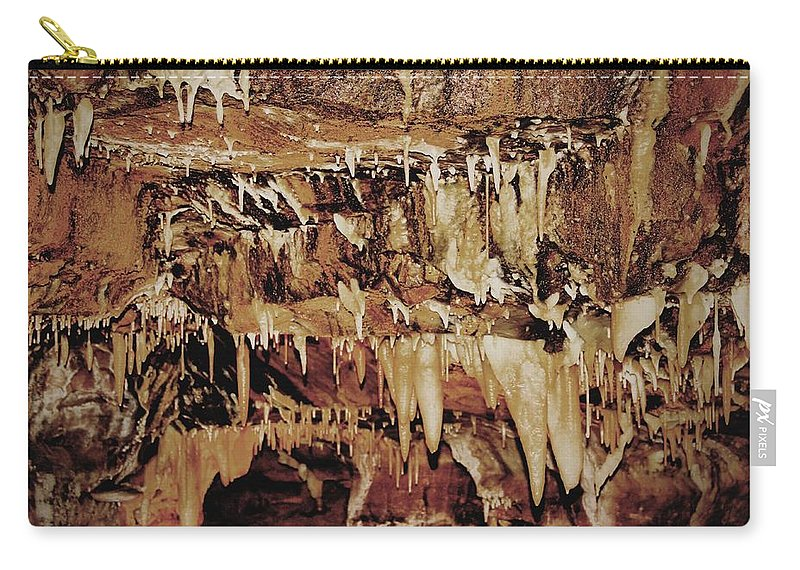 Caverns Carry-all Pouch featuring the photograph Cavern Beauty by Dan Sproul