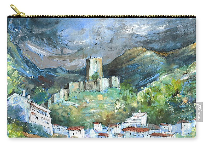 Travel Carry-all Pouch featuring the painting Cazorla 02 by Miki De Goodaboom