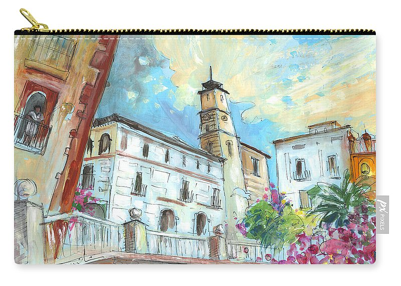 Travel Carry-all Pouch featuring the painting Cazorla 05 by Miki De Goodaboom