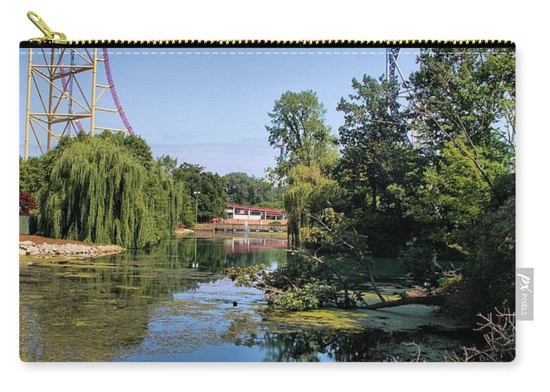 Cedar Point Carry-all Pouch featuring the photograph Cedar Point Ohio by Dan Sproul