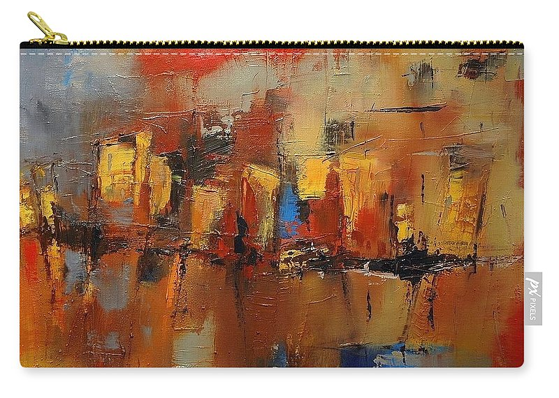 Cefalu Carry-all Pouch featuring the painting Cefalu by Elise Palmigiani