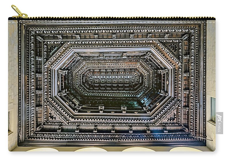 Ancient Carry-all Pouch featuring the photograph Ceiling by Maria Coulson