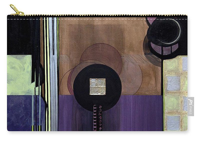 Abstract Carry-all Pouch featuring the painting Celadons by Marlene Burns