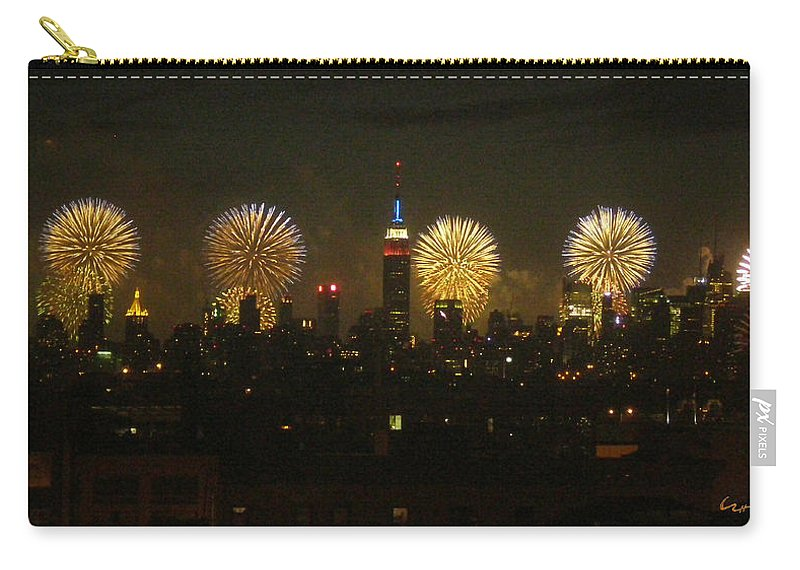 Fireworks Carry-all Pouch featuring the photograph Celebrate Freedom by Carl Hunter
