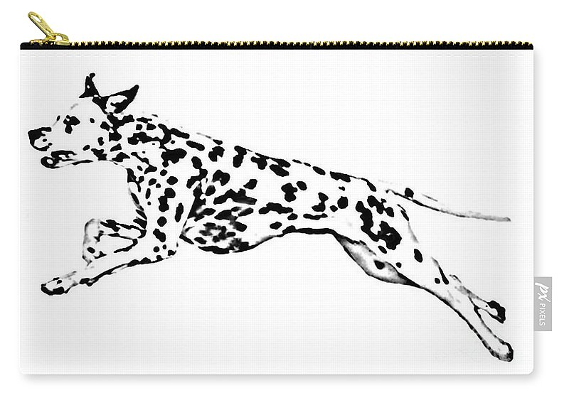 Dogs Carry-all Pouch featuring the drawing Celebrate by Jacki McGovern