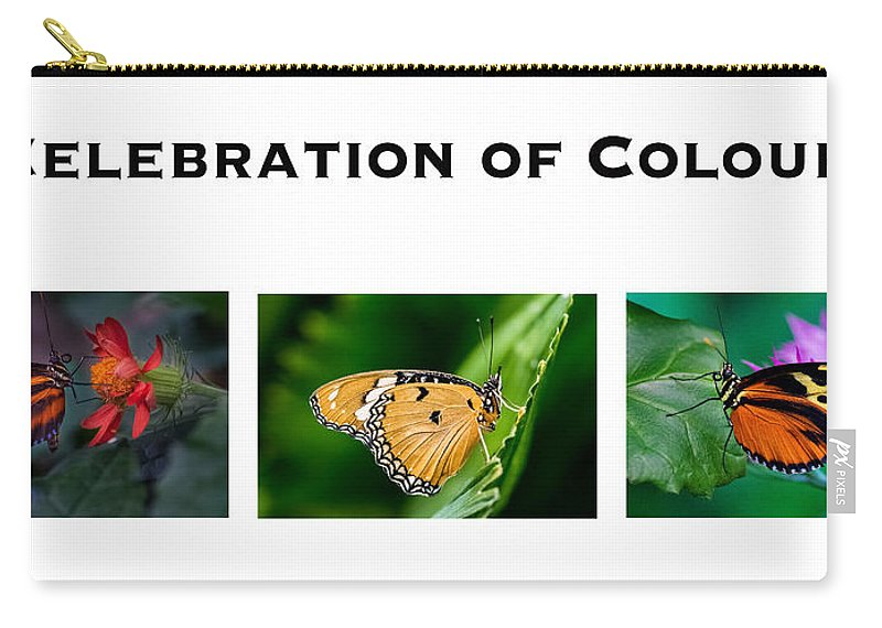 Butterfly Carry-all Pouch featuring the photograph Celebration Of Colour by Garvin Hunter