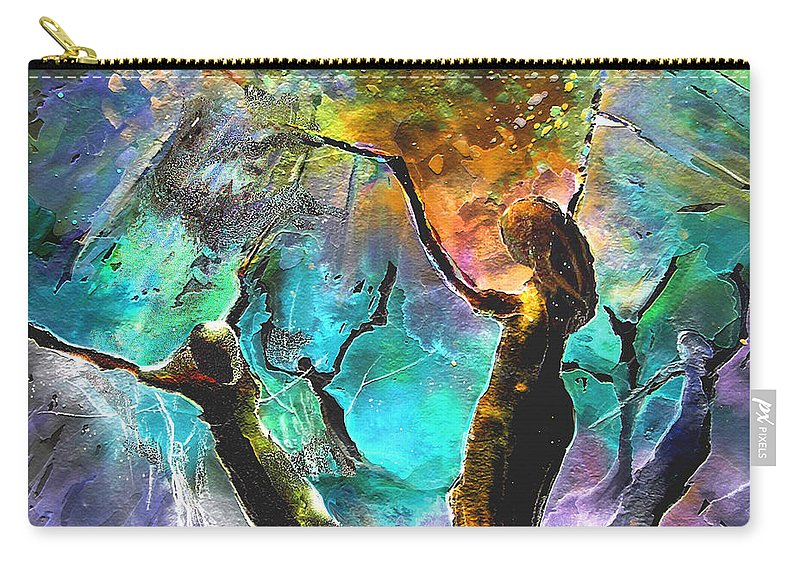 Miki Carry-all Pouch featuring the painting Celebration Of Life by Miki De Goodaboom