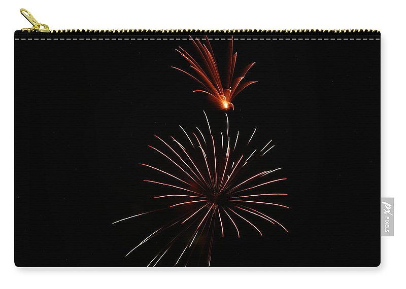 Fireworks Carry-all Pouch featuring the photograph Celebration Xl by Pablo Rosales