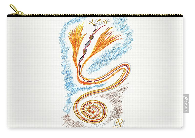 Metaphysical Carry-all Pouch featuring the drawing Express Your Passion by Mark David Gerson