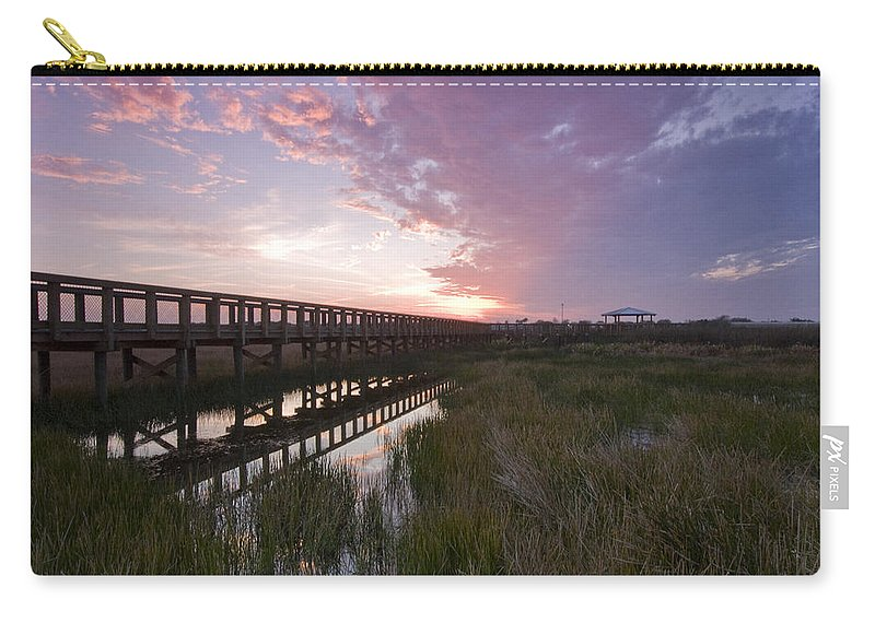 Sarasota Carry-all Pouch featuring the photograph Celery Fields Sunset by Sandy Swanson