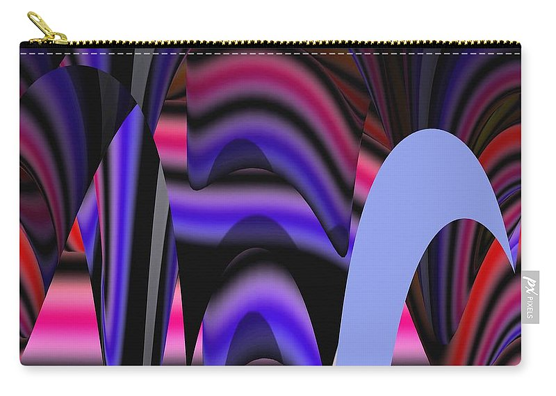 Abstract Digital Art Carry-all Pouch featuring the painting Celestial Cave Digital Art by Georgeta Blanaru