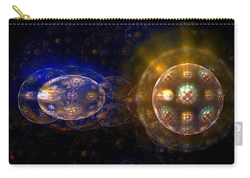 Fractal Art Carry-all Pouch featuring the digital art Cell Division by Adam Vance