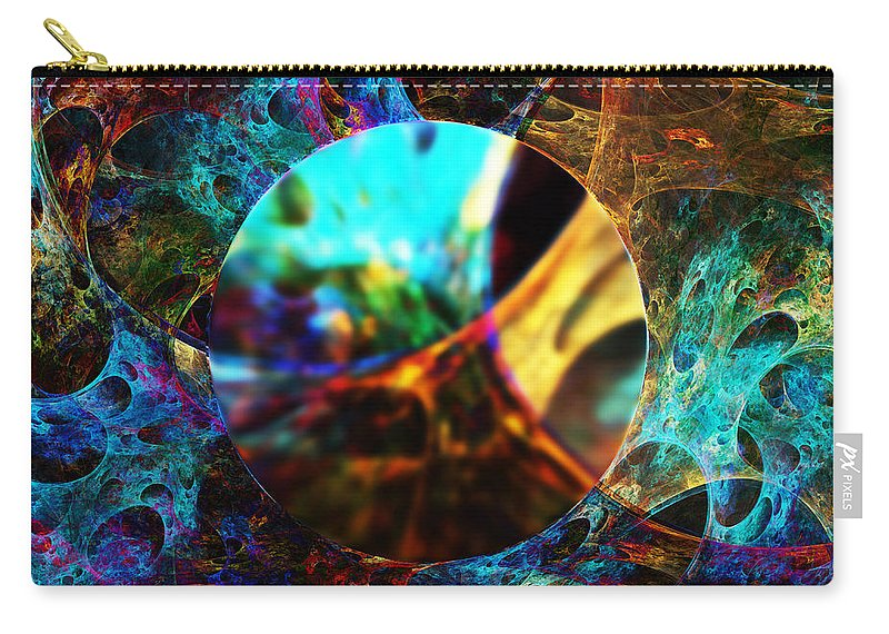 Cells Carry-all Pouch featuring the digital art Cell Research by Klara Acel