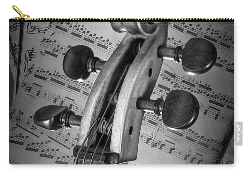 Cello Carry-all Pouch featuring the photograph Cello Classic Art by Randall Nyhof