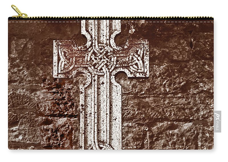 Celtic Cross Carry-all Pouch featuring the photograph Celtic Cross by Liz Leyden