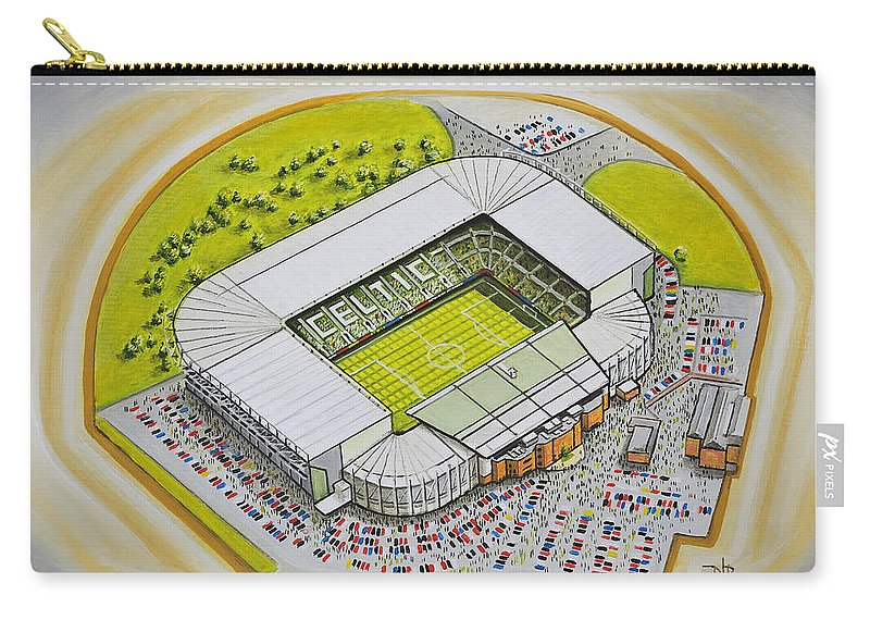 Celtic Carry-all Pouch featuring the painting Celtic Park by D J Rogers