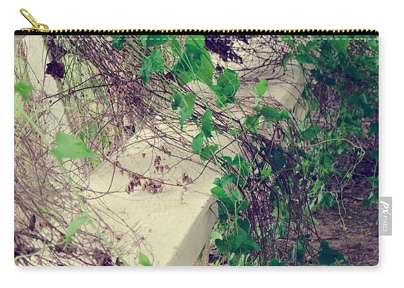 Bench Carry-all Pouch featuring the photograph Cemetery Bench II by Gary Richards