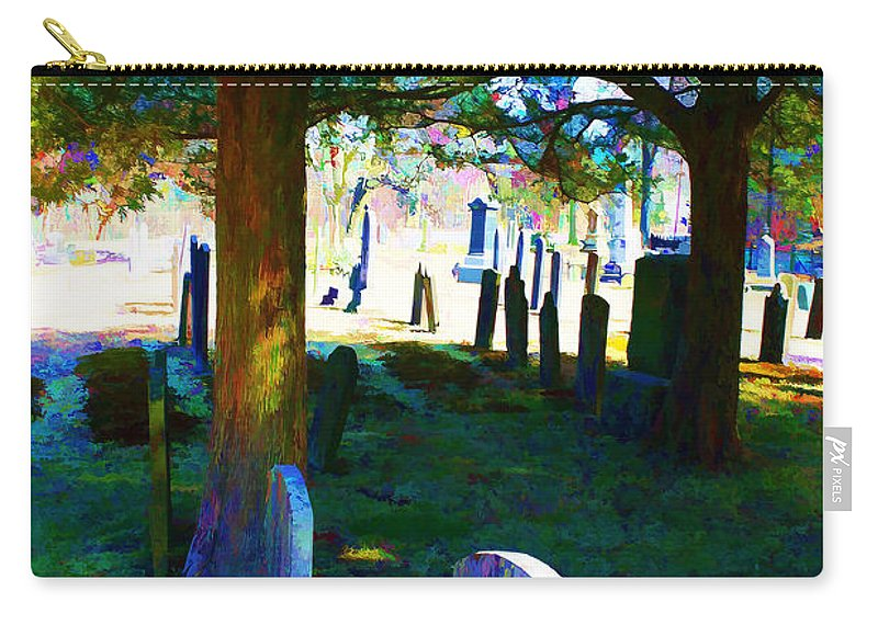 Cemetary Carry-all Pouch featuring the photograph Cemetery Color 2 by Robin Lewis