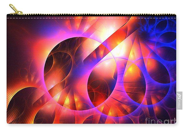 Apophysis Carry-all Pouch featuring the digital art Centaur by Kim Sy Ok