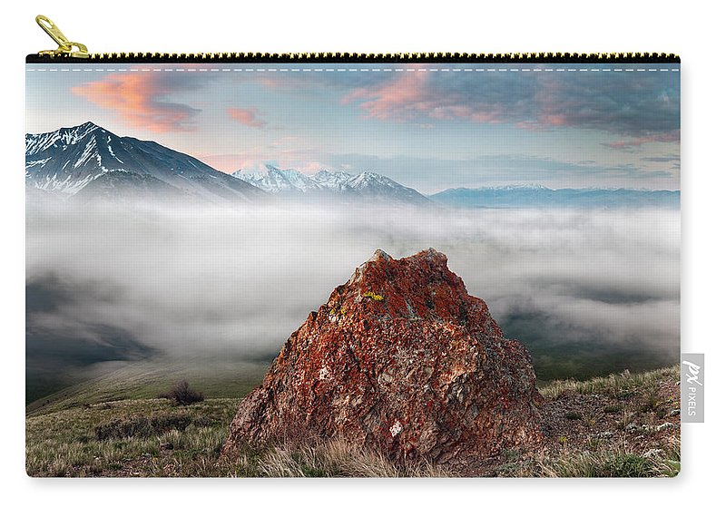 Altitude Carry-all Pouch featuring the photograph Central Idaho Mountain Morning by Leland D Howard