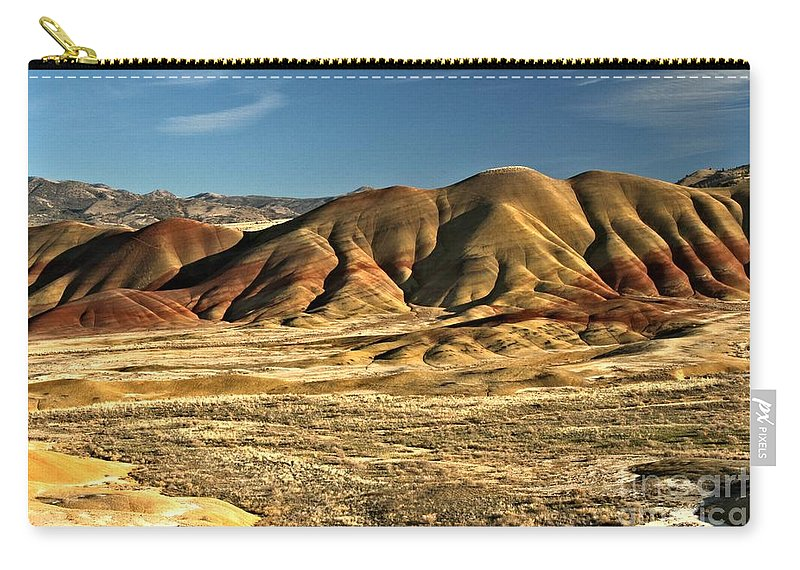Painted Hills Carry-all Pouch featuring the photograph Central Oregon Painted Hills by Adam Jewell