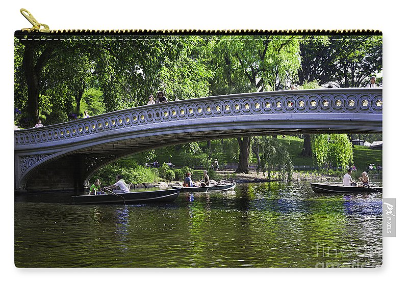 Central Park Carry-all Pouch featuring the photograph Central Park Day 2 by Madeline Ellis