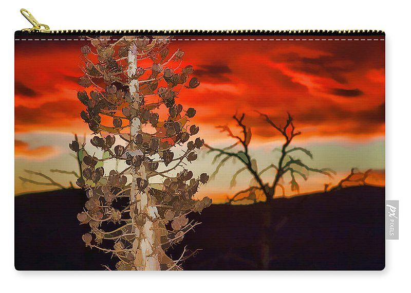 Cactus Carry-all Pouch featuring the photograph Century Soldier Sunset by Scott Campbell