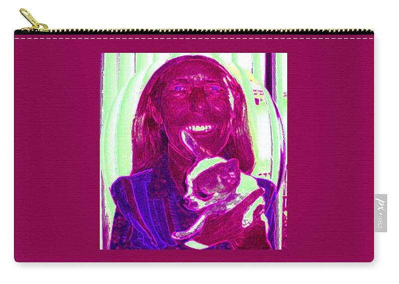 Chihuahua Carry-all Pouch featuring the photograph Chachi And Dot by Leah Delano