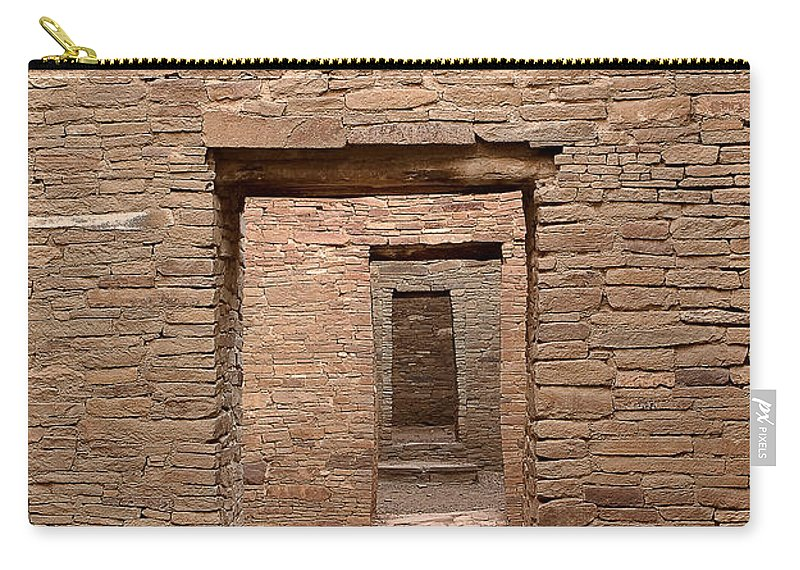 Chaco Carry-all Pouch featuring the photograph Chaco Canyon by Steven Ralser