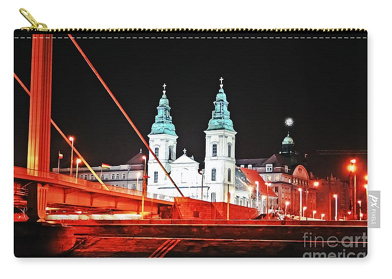 Travel Carry-all Pouch featuring the photograph Chain Bridge by Elvis Vaughn