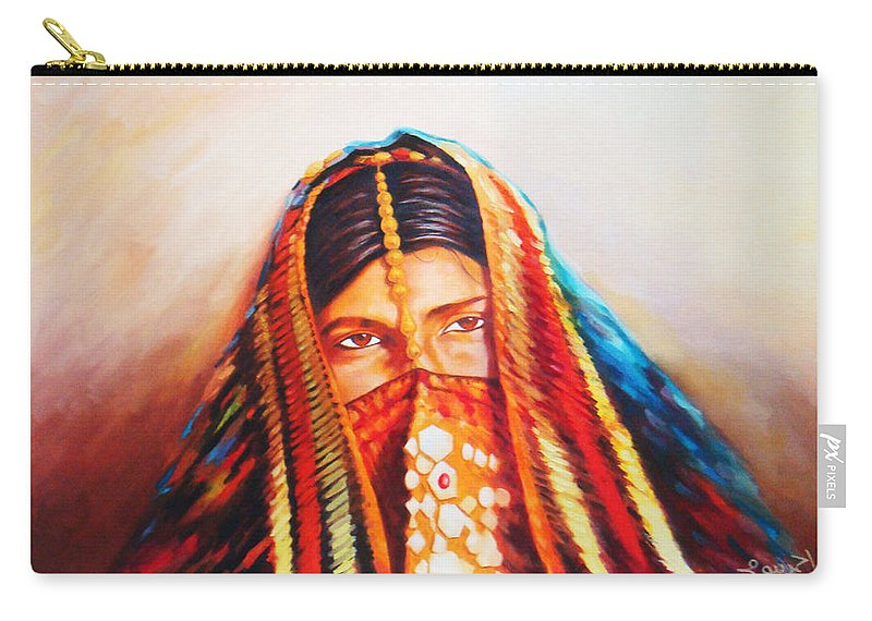 Oriental Carry-all Pouch featuring the painting chains of Gold by Ahmed Bayomi
