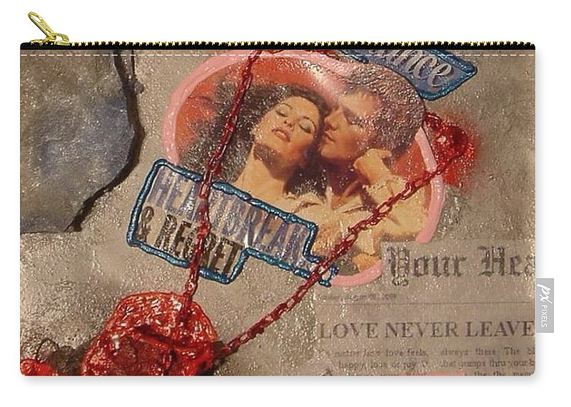 Heart Carry-all Pouch featuring the painting Chains Of Love by Lisa Piper