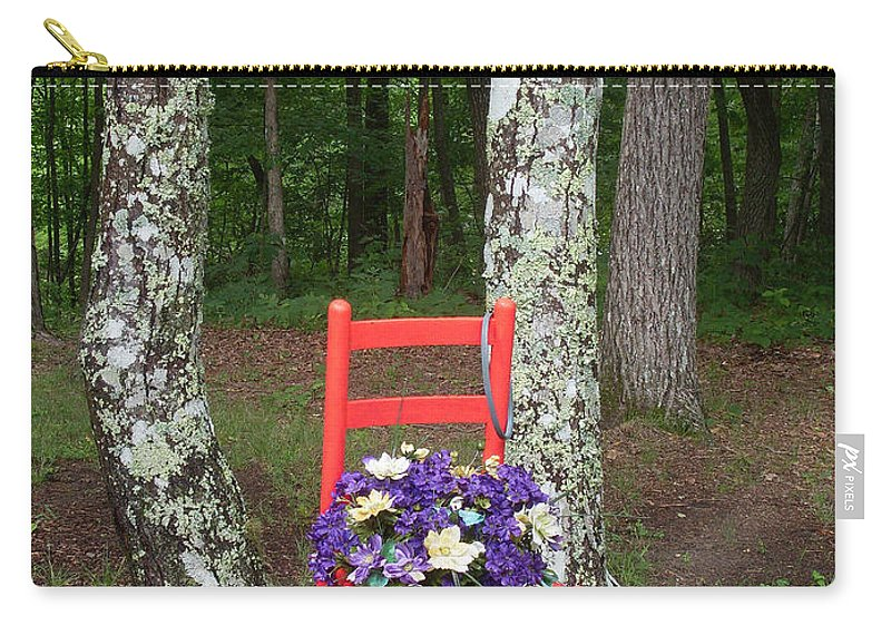 Chair Carry-all Pouch featuring the photograph Chair Of The Grand Elf by Douglas Barnett