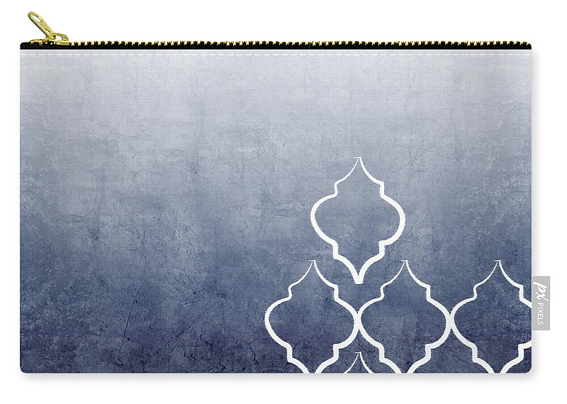 Abstract Carry-all Pouch featuring the mixed media Chambray Ombre by Linda Woods