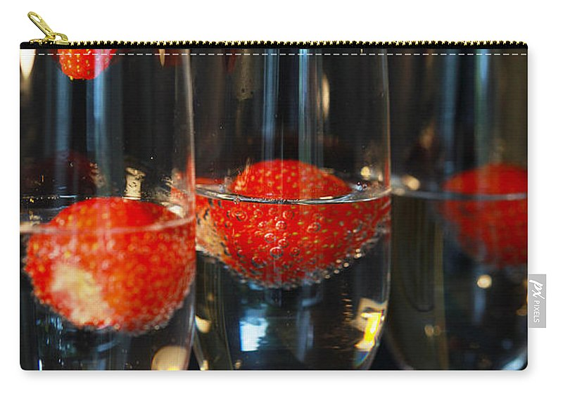 Champagne Carry-all Pouch featuring the photograph Champagne Cocktail Trio by Jacqueline Moore