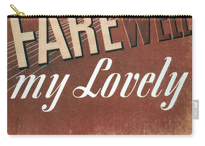 1940 Carry-all Pouch featuring the photograph Chandler: Farewell, 1940 by Granger
