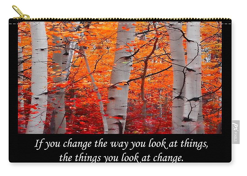 Change Carry-all Pouch featuring the photograph Change by Don Schwartz