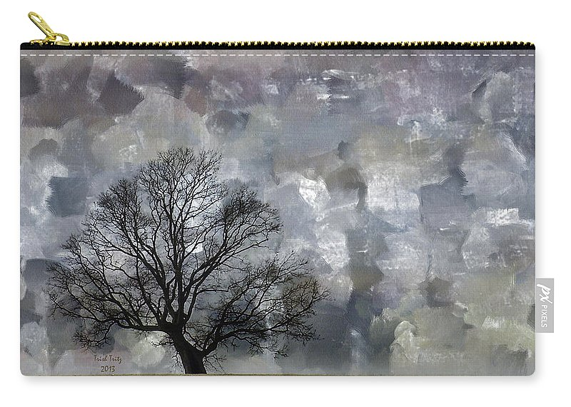 Tree Carry-all Pouch featuring the mixed media Change Is Gonna Come by Trish Tritz