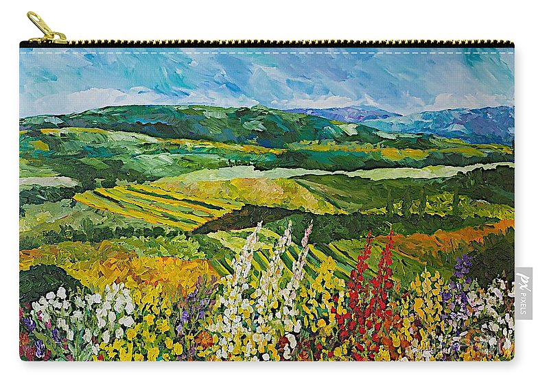 Landscape Carry-all Pouch featuring the painting Change is in the Air by Allan P Friedlander