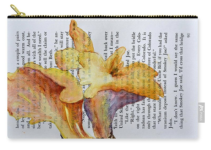 Chanterelles Carry-all Pouch featuring the painting Chanterelles by Beverley Harper Tinsley